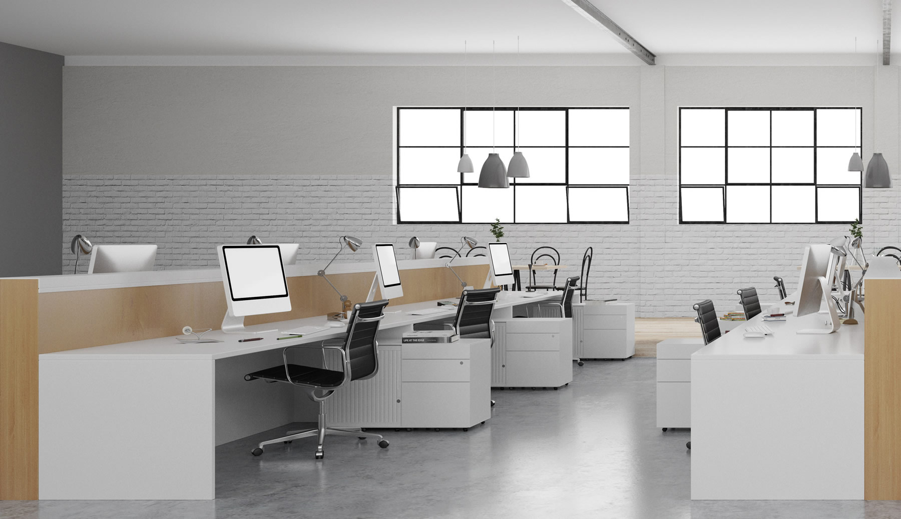 Modern office with empty chairs - Waivers